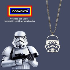 ST1.jpg Download STL file Stormtrooper Pendant (Star Wars) • 3D printer design, InnovaPro