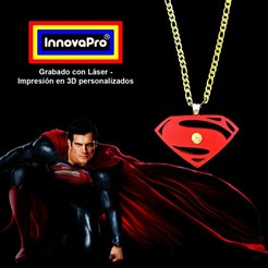 SupermanF.jpg Download STL file Superman Pendant (2x1) • 3D printer model, InnovaPro