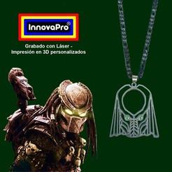 Predator1.jpg Télécharger fichier STL Pendentif prédateur (Predator) • Modèle imprimable en 3D, InnovaPro