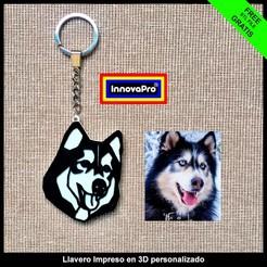 LlaveroF2.1.jpg Download free STL file Husky Keychain • 3D printer object, InnovaPro