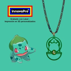 BulbasaurF1.jpg Download STL file Bulbasaur's Pendant • Design to 3D print, InnovaPro