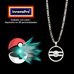 PokebolaF1.jpg Download STL file Pokebola's Pendant • 3D printable template, InnovaPro