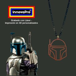 BF1.jpg Download STL file Boba Fett (Star Wars) Pendant • 3D printer model, InnovaPro