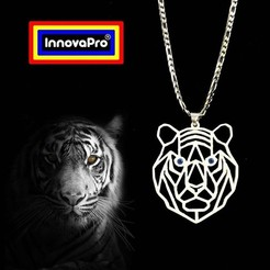 Download 3D printing templates Tiger Totem, InnovaPro