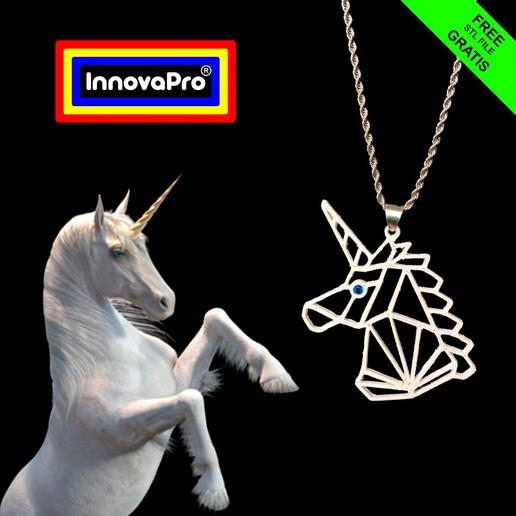 UnicornioF1.1.jpg Télécharger fichier STL gratuit Pendentif de licorne • Modèle imprimable en 3D, InnovaPro