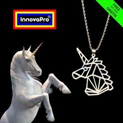 Télécharger fichier STL gratuit Pendentif de licorne • Modèle imprimable en 3D, InnovaPro