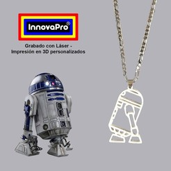 R2D2F1.jpg Download STL file R2D2 Pendant (Star Wars) • Model to 3D print, InnovaPro