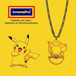 PikachuF1.jpg Download STL file Pikachu's Pendant • Design to 3D print, InnovaPro