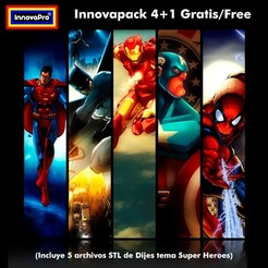 Download 3D printing designs Innovapack Super Heroes, InnovaPro