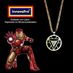 IronmanF.jpg Download STL file Ironman Pendant (2x1) • 3D printing model, InnovaPro
