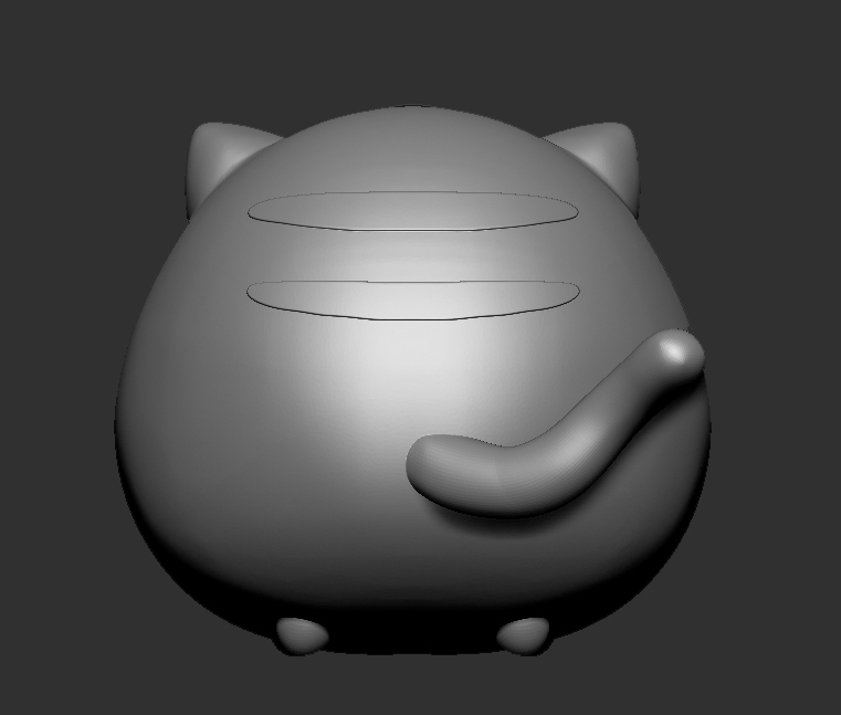 tiger4.jpg Download STL file cute tiger printable 3D print model • 3D printable object, Kownus