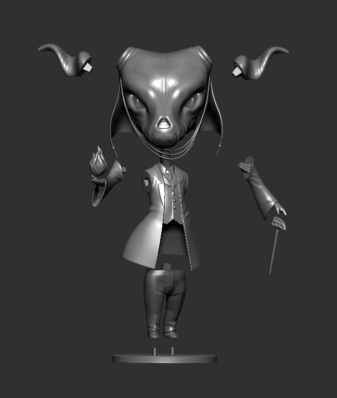 Elias09.jpg Download STL file Elias Ainsworth Chibi figurine • 3D print design, Kownus