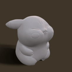 screenshot007.png Download STL file Grumpy_pikachu • 3D print model, Kownus
