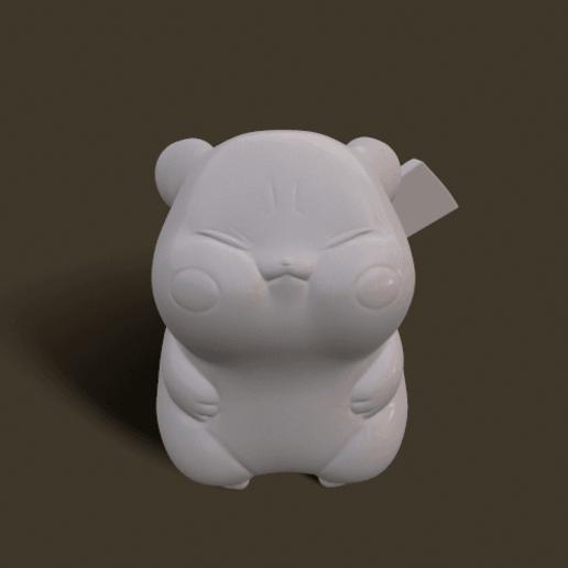 screenshot008.png Download STL file Grumpy_pikachu • 3D print model, Kownus