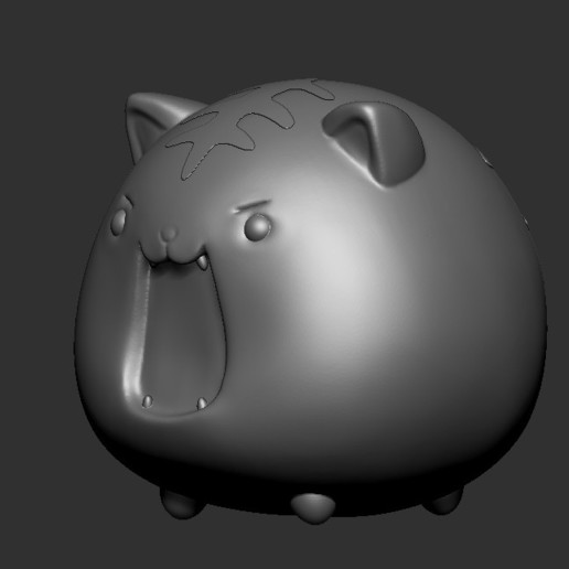 tiger1.jpg Download STL file cute tiger printable 3D print model • 3D printable object, Kownus