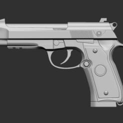 1.jpg Download STL file Beretta 90 3d print • 3D print model, Kownus