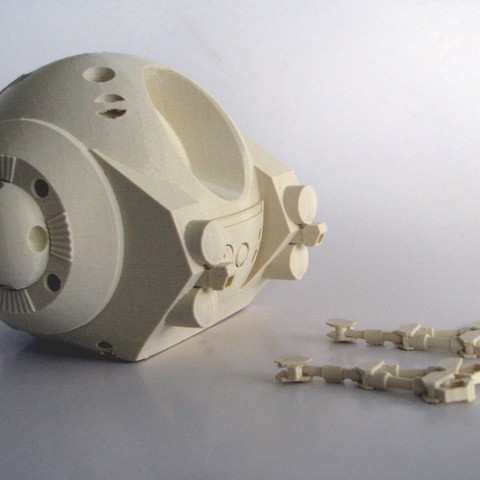 2001Pod_as_Printed-SupportsRemoved.jpg Download free STL file EVA Pod from 2001: A Space Odyssey • 3D printer model, BouncyMonkey