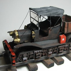 VintageRailcar_WithCanopy02.jpg Download free STL file Vintage Railcar - 36mm gauge • 3D printing object, BouncyMonkey