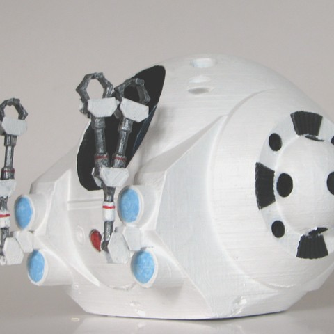 2001Pod_Painted02.jpg Download free STL file EVA Pod from 2001: A Space Odyssey • 3D printer model, BouncyMonkey