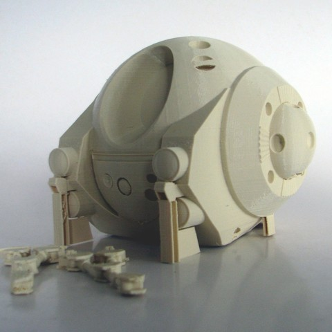2001Pod_as_Printed.jpg Download free STL file EVA Pod from 2001: A Space Odyssey • 3D printer model, BouncyMonkey