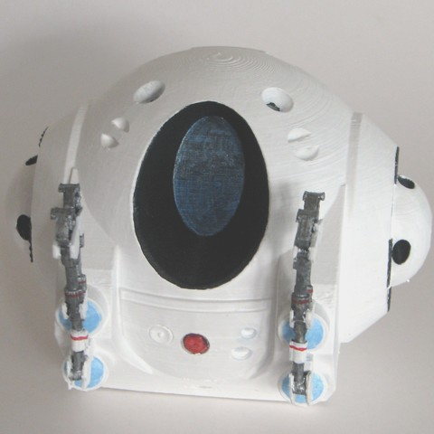 2001Pod_Painted01.jpg Download free STL file EVA Pod from 2001: A Space Odyssey • 3D printer model, BouncyMonkey