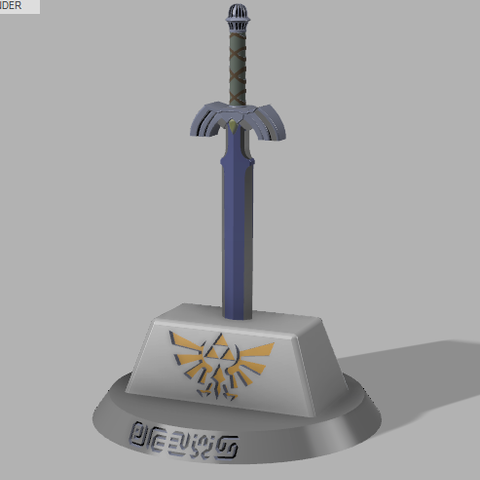Free 3d Printer Files Master Sword Zelda Zambrana95