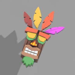 Aku Aku v6.png Download free STL file Aku Aku (Crash Bandicoot) • 3D printing design, Zambrana95