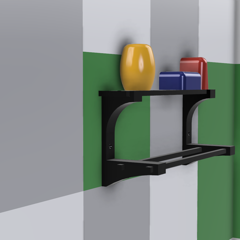 Cuarto de Baño v74.png Download free STL file Towel Rack • 3D print model, Zambrana95