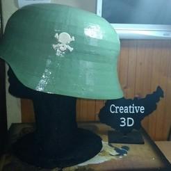 01.jpg Download STL file German Helmet WW2 • 3D printing object, Creative3DBadajoz