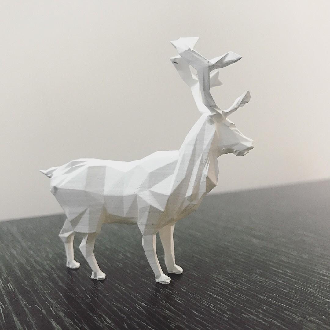 IMG_2424 2.JPG Download STL file Low-poly reindeer • 3D printer model, WONGLK519
