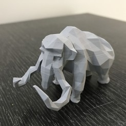 Download 3D printing models Low-poly mammoth, WONGLK519