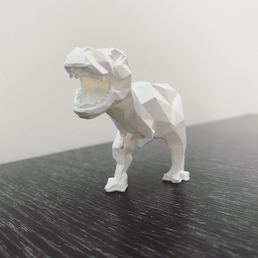 IMG_2585.JPG Download STL file Low-poly t-rex • 3D printer template, WONGLK519