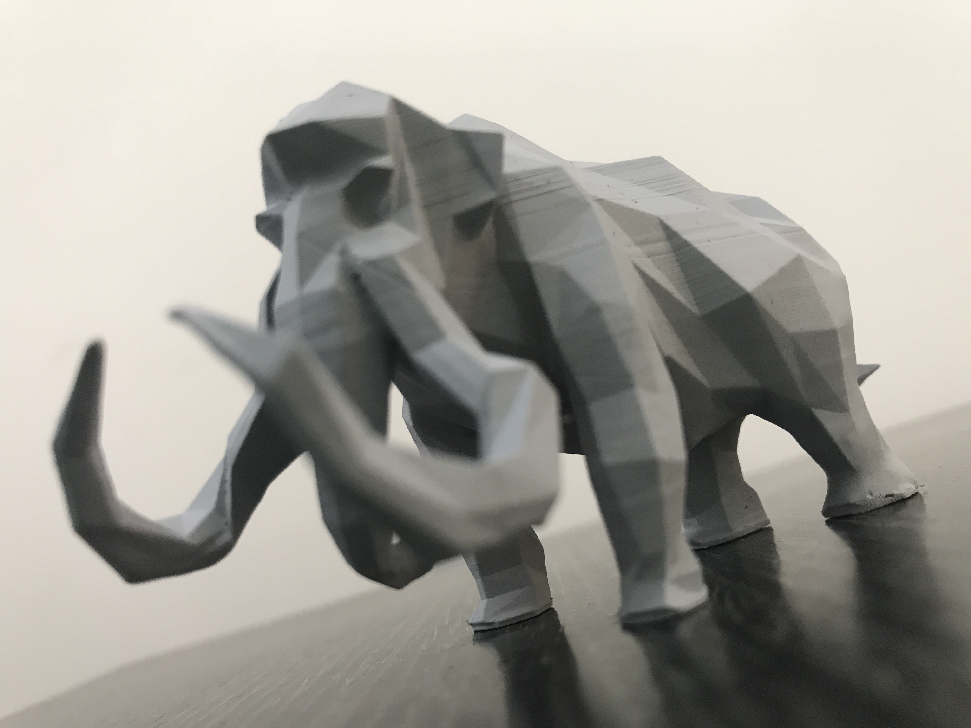 IMG_2322.JPG Download STL file Low-poly mammoth • 3D print template, WONGLK519