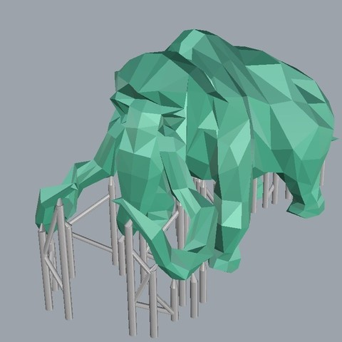 mammoth sup.jpg Download STL file Low-poly mammoth • 3D print template, WONGLK519