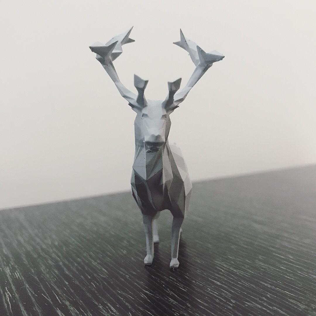 IMG_2423 2.JPG Download STL file Low-poly reindeer • 3D printer model, WONGLK519