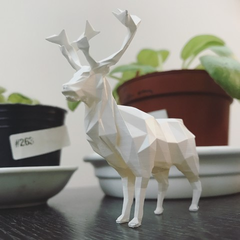 Download STL Low-poly reindeer, WONGLK519