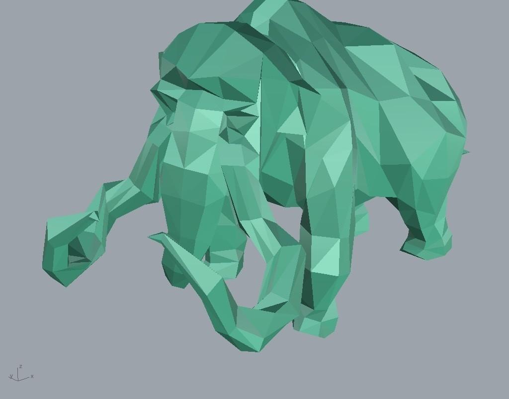 mammoth.jpg Download STL file Low-poly mammoth • 3D print template, WONGLK519