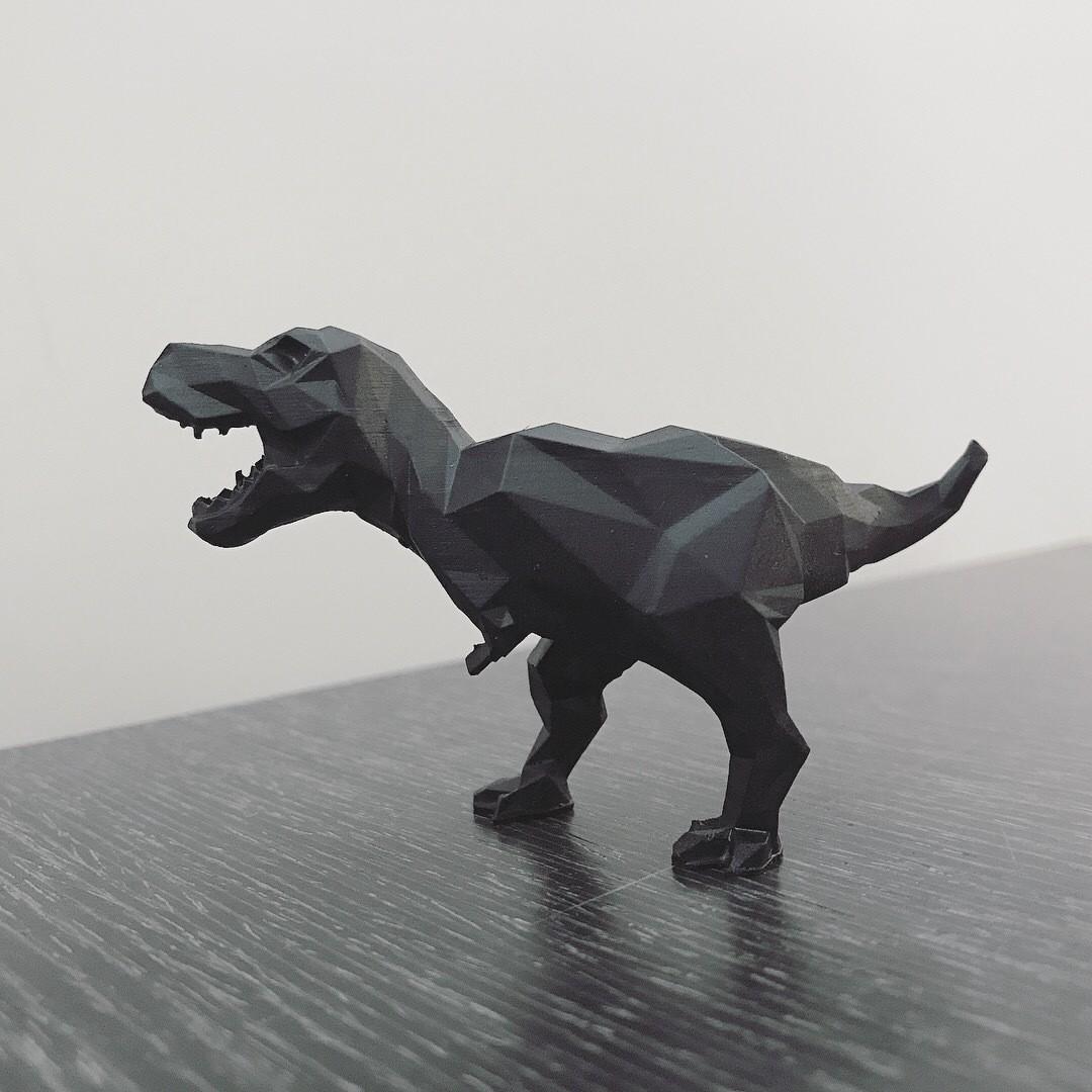 IMG_2588.JPG Download STL file Low-poly t-rex • 3D printer template, WONGLK519