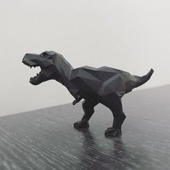 STL Low-poly t-rex, WONGLK519