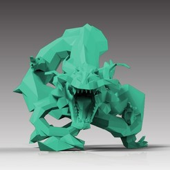 fichier 3d Dragon low-poly, WONGLK519