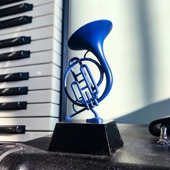 IMG_4238.jpg Download STL file Blue French Horn from HOW I MET YOUR MOTHER • 3D printable design, WONGLK519