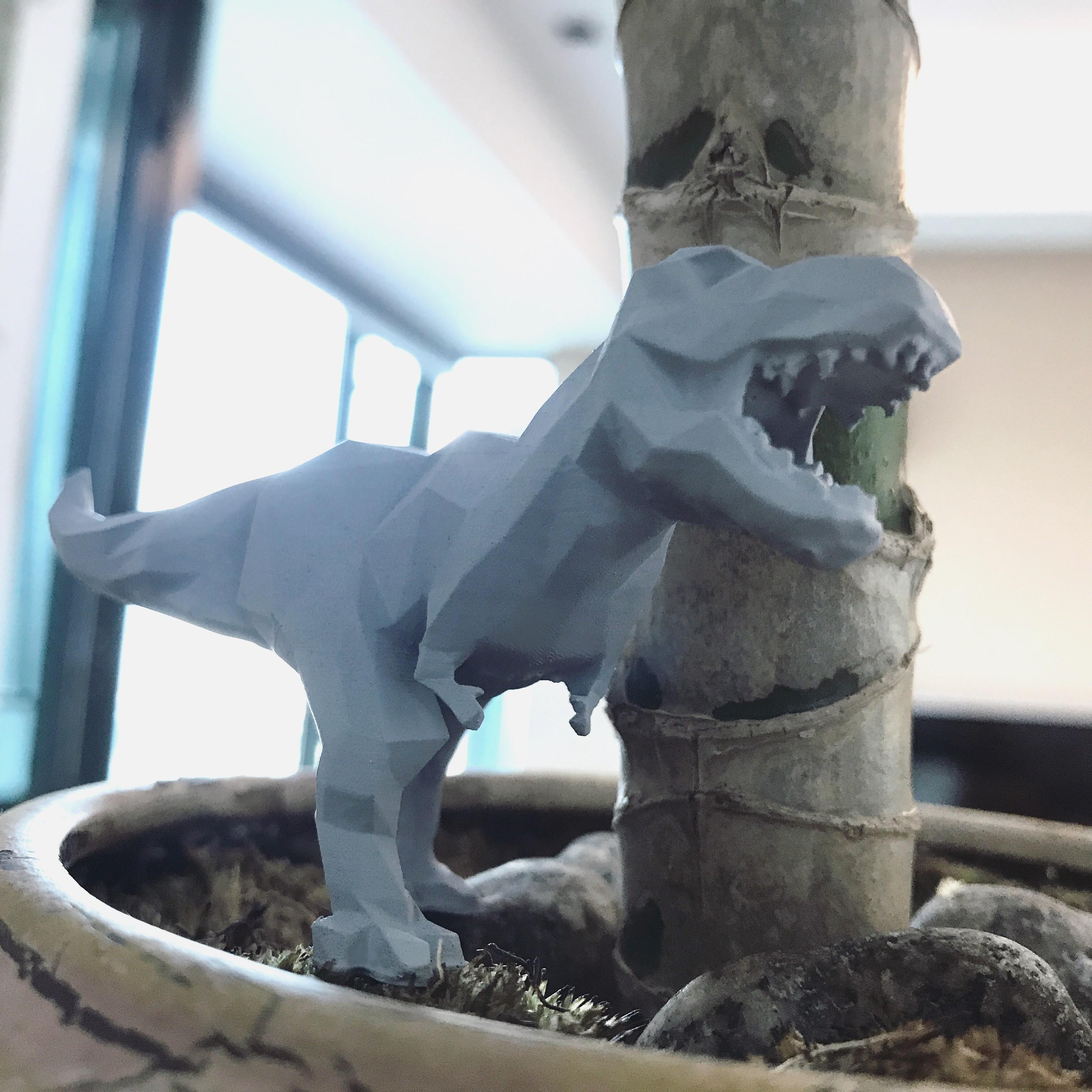 IMG_2390.JPG Download STL file Low-poly t-rex • 3D printer template, WONGLK519