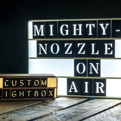 Free 3d printer designs Customizable Retro Lightbox, MightyNozzle