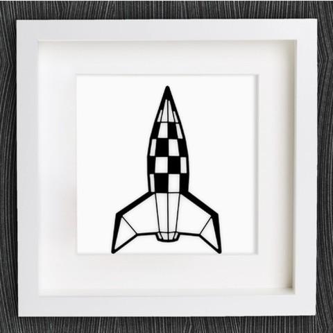 Impresiones 3D gratis Personalizable Origami Retro Rocket, MightyNozzle