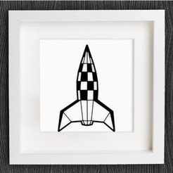 Free 3D printer file Customizable Origami Retro Rocket, MightyNozzle