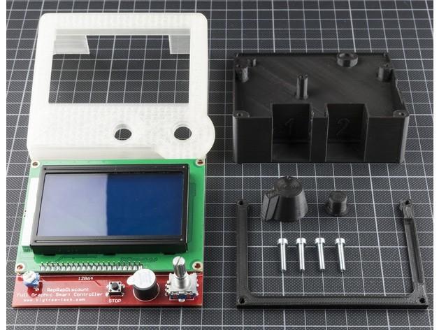 e13fe68affa3bb7c8c873ccf4a820b40_preview_featured.jpg Download free STL file RepRapDiscount Full Graphic Smart Controller Case • 3D printer template, MightyNozzle