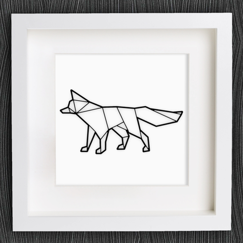 Free 3D printer designs Customizable Origami Fox, MightyNozzle
