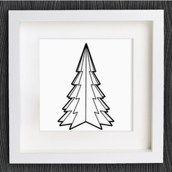 Free 3d model Customizable Origami Christmas Tree, MightyNozzle