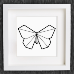 Free stl files Customizable Origami Butterfly, MightyNozzle