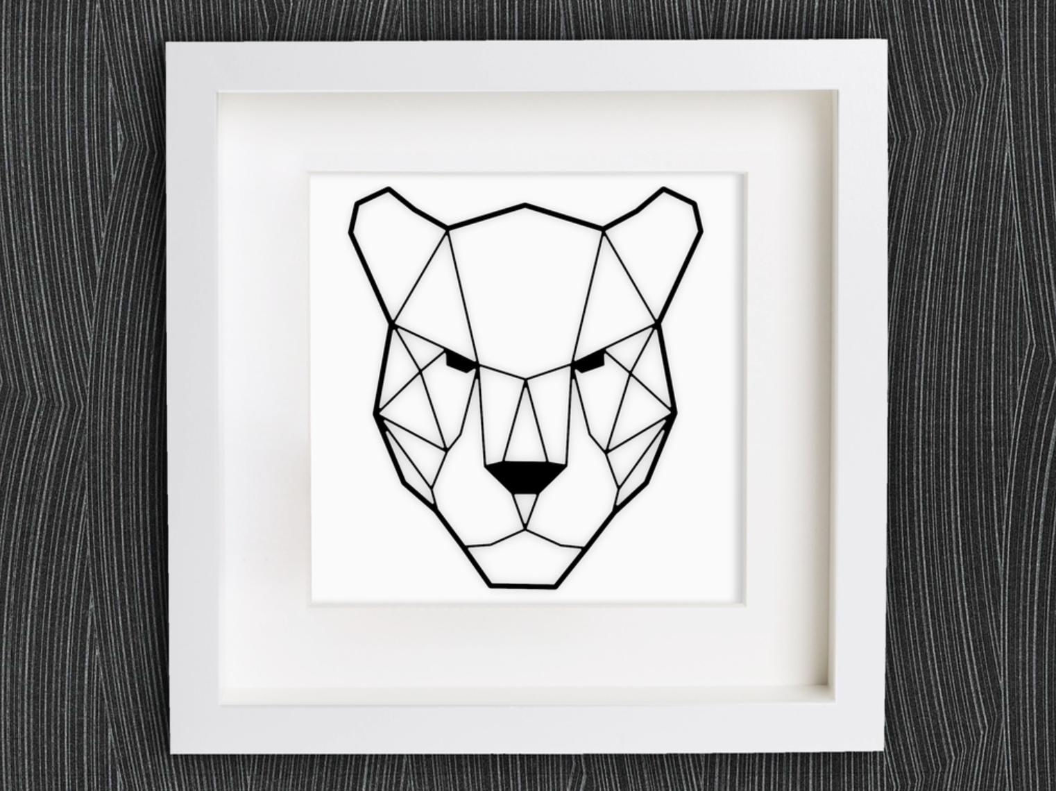 Panther Origami by W-LAN-Kabel - Thingiverse | 1140x1522